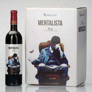 caja de vino mentalista con DOC Rioja