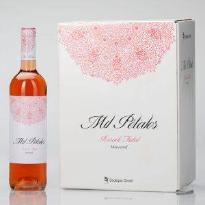 caja de vino rosado mil petalos
