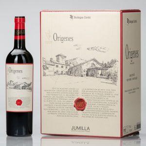 caja vino tinto orígenes