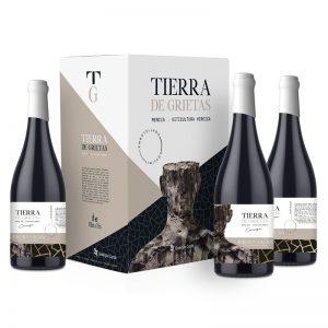 botellas de vino tierra de grietas